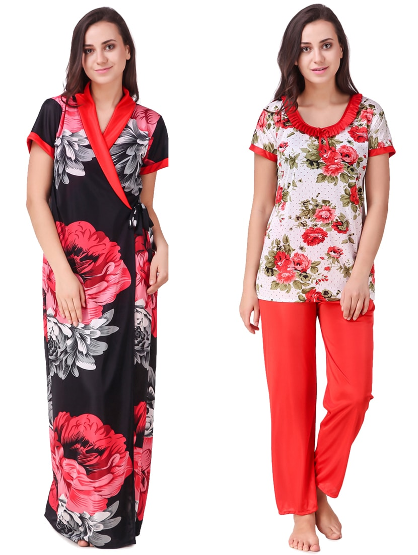 ... floral sleepwear robe   pajama set - 15464785 - Zoom Image - 1 a133106f3