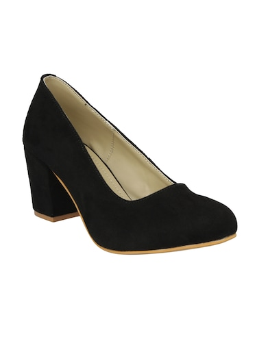 black slip on pumps - 15477248 - Standard Image - 1