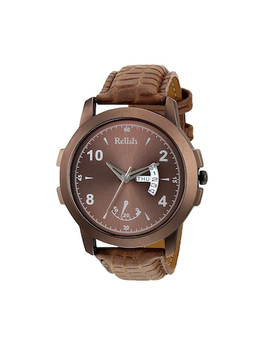Relish Leather strap analog watch (RE-CB949DD) - 15481916 - Standard Image - 1