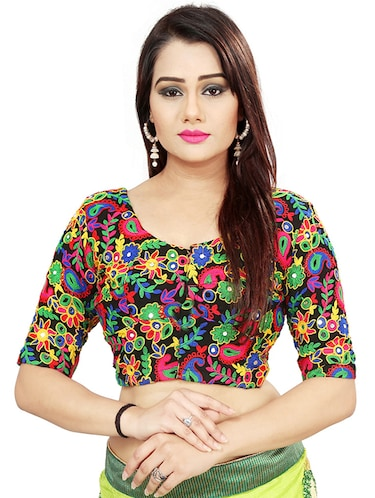 Multi thread embroidered blouse - 15488187 - Standard Image - 1