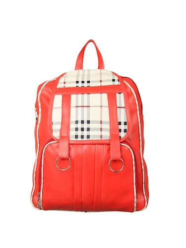 red leatherette (pu) regular backpack - 15488390 - Standard Image - 1