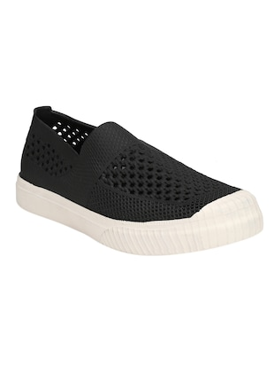 black Rubber casual slip ons - 15488594 - Standard Image - 1