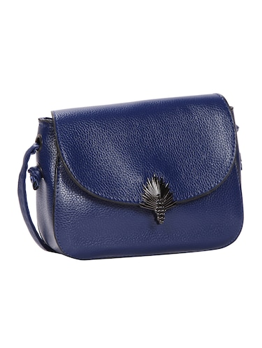 blue leatherette (pu) regular sling bag - 15491094 - Standard Image - 1