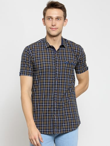 cc33486813 Buy Multi Colored Cotton Casual Shirt for Men from Kivon for ₹930 ...