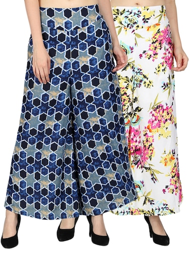 set of 2 printed flared palazzo - 15492089 - Standard Image - 1