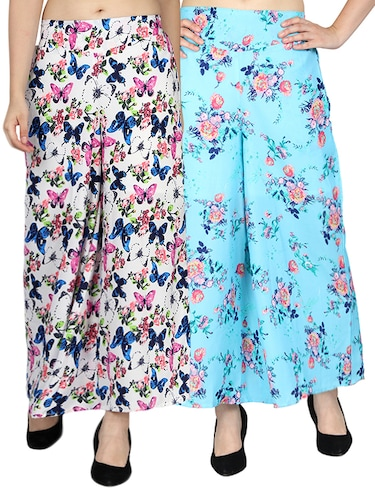 set of 2 printed flared palazzo - 15492124 - Standard Image - 1