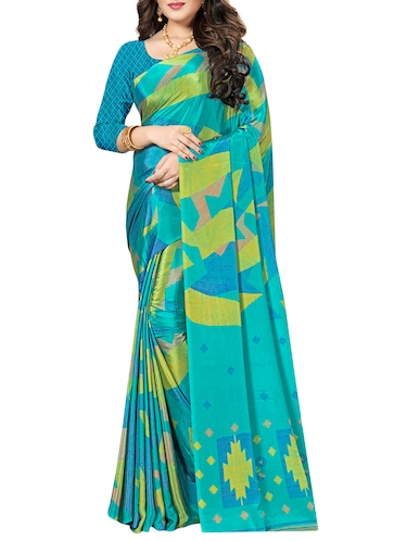 Geometrical printed saree with blouse - 15492215 - Standard Image - 1