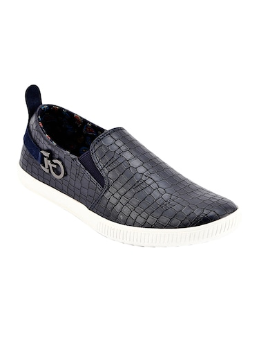 navy Leather casual slip ons - 15492811 - Standard Image - 1