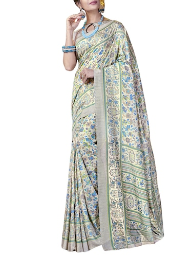 Ditsy floral printed saree with blouse - 15493601 - Standard Image - 1