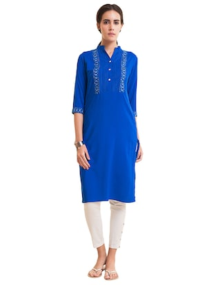 Straight pintucks kurta - 15494810 - Standard Image - 1