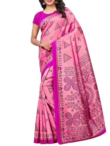 warli printed saree with blouse - 15497513 - Standard Image - 1