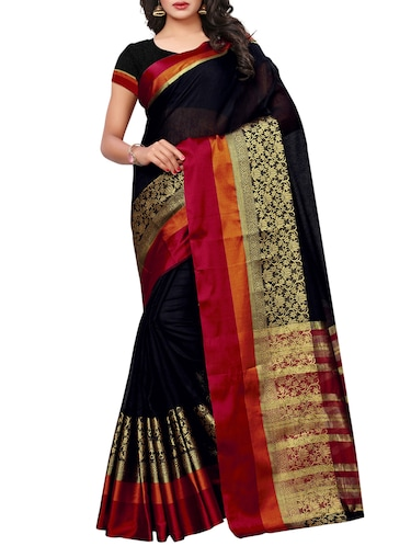 Disty floral bordered maheshwari saree with blouse - 15497528 - Standard Image - 1