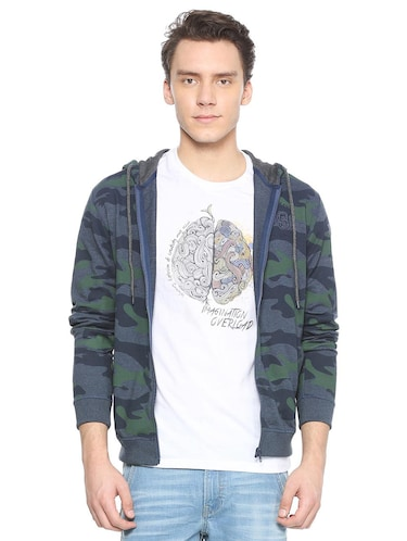 blue cotton all over print sweatshirt - 15497759 - Standard Image - 1