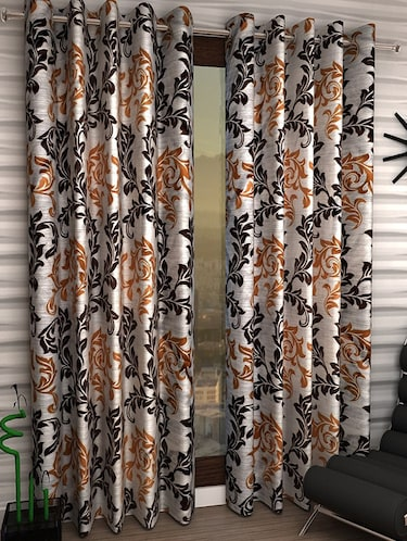 Set of 6 Polyester Long Door Curtains - 15498222 - Standard Image - 1