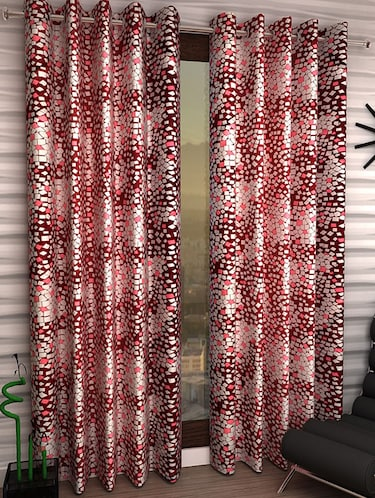 Set of 6 Polyester Long Door Curtains - 15498241 - Standard Image - 1