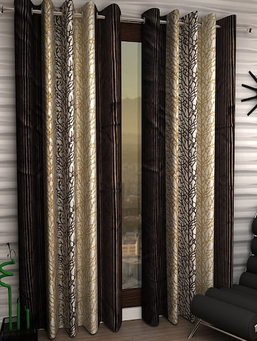 Set of 6 Polyester Long Door Curtains - 15498269 - Standard Image - 1