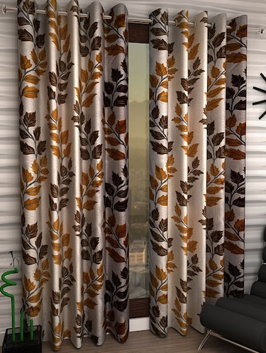 Set of 6 Polyester Long Door Curtains - 15498287 - Standard Image - 1