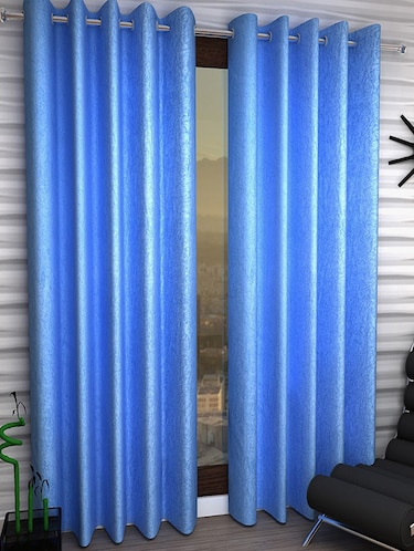 Set of 8 Polyester Long Door Curtains - 15498303 - Standard Image - 1