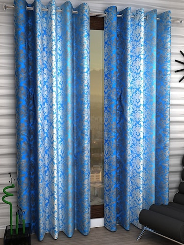 Set of 2 Polyester Long Door Curtains - 15498322 - Standard Image - 1