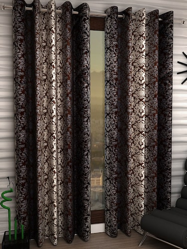 Set of 2 Polyester Long Door Curtains - 15498344 - Standard Image - 1