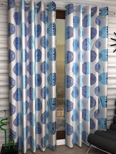 Set of 2 Polyester Long Door Curtains - 15498376 - Standard Image - 1