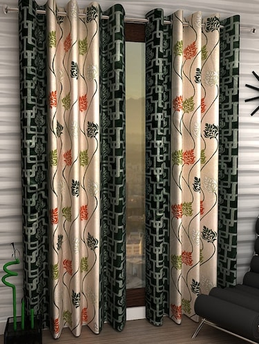 Set of 2 Polyester Long Door Curtains - 15498420 - Standard Image - 1