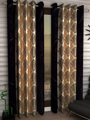 Set of 4 Polyester Long Door Curtains - 15498487 - Standard Image - 1