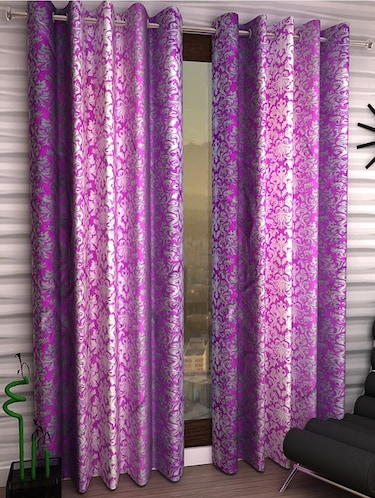 Set of 4 Polyester Long Door Curtains - 15498494 - Standard Image - 1