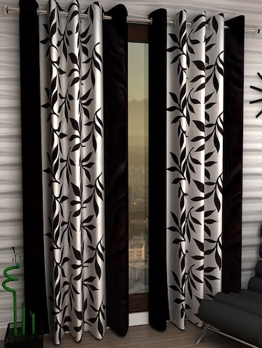 Set of 4 Polyester Long Door Curtains - 15498525 - Standard Image - 1