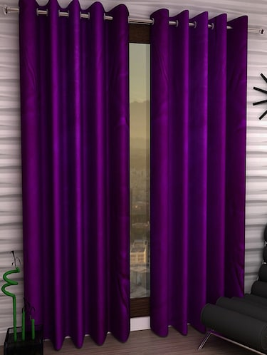 Set of 6 Polyester Long Door Curtains - 15498552 - Standard Image - 1