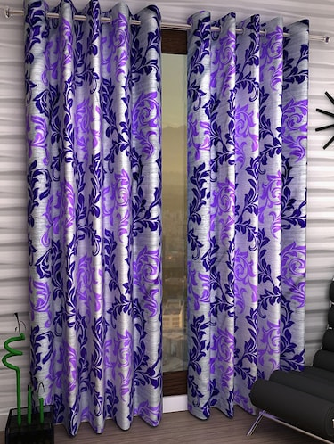 Set of 6 Polyester Long Door Curtains - 15498573 - Standard Image - 1