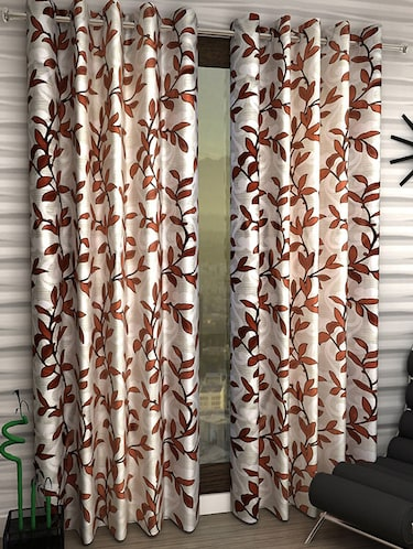 Set of 6 Polyester Long Door Curtains - 15498574 - Standard Image - 1