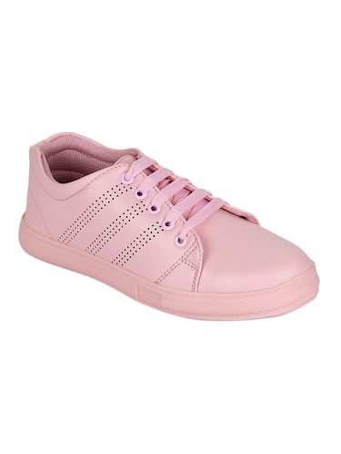 pink lace-up sneakers - 15500156 - Standard Image - 1