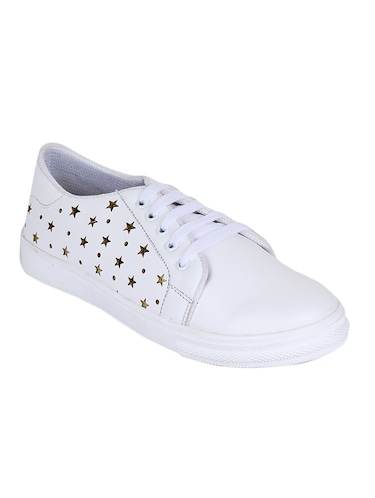 white lace-up sneakers - 15500160 - Standard Image - 1