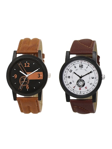 ACNOS Round dial analog watch combo(WAT-LR-01-11-COMBO) - 15500328 - Standard Image - 1
