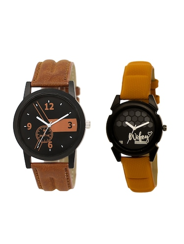 ACNOS Round dial analog couple watch(WAT-LR-01-235-COMBO) - 15500385 - Standard Image - 1