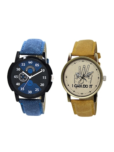 ACNOS Round dial analog watch combo(WAT-LR-02-30-COMBO) - 15500418 - Standard Image - 1