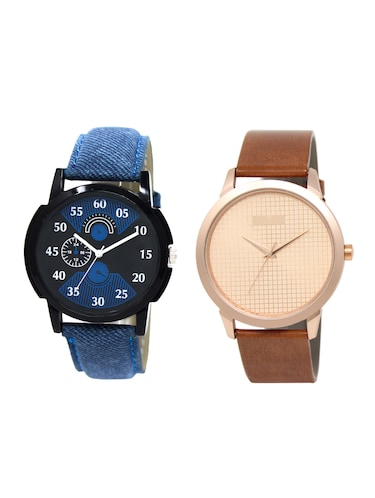 ACNOS Round dial analog watch combo(WAT-LR-02-34-COMBO) - 15500422 - Standard Image - 1