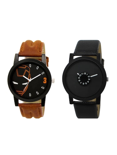 ACNOS Round dial analog watch combo(WAT-LR-04-25-COMBO) - 15500552 - Standard Image - 1