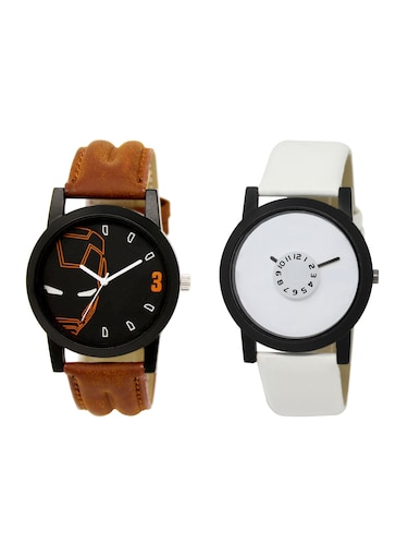 ACNOS Round dial analog watch combo(WAT-LR-04-26-COMBO) - 15500553 - Standard Image - 1