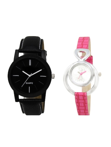 ACNOS Round dial analog couple watch(WAT-LR-05-205-COMBO) - 15500638 - Standard Image - 1