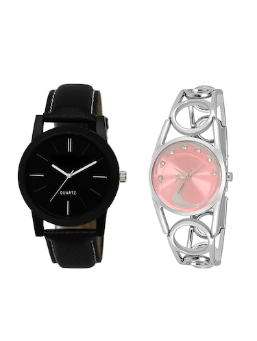 ACNOS Round dial analog couple watch(WAT-LR-05-233-COMBO) - 15500661 - Standard Image - 1