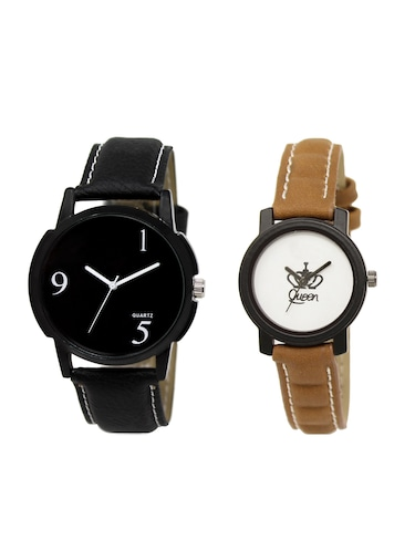 ACNOS Round dial analog couple watch(WAT-LR-06-209-COMBO) - 15500708 - Standard Image - 1