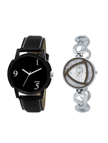 ACNOS Round dial analog couple watch(WAT-LR-06-240-COMBO) - 15500735 - Standard Image - 1
