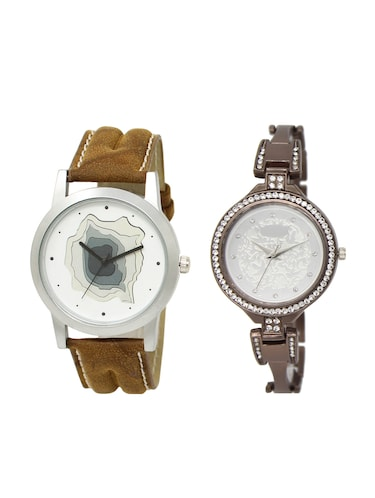 ACNOS Round dial analog couple watch(WAT-LR-09-236-COMBO) - 15500926 - Standard Image - 1