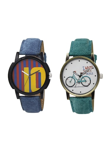 ACNOS Round dial analog watch combo(WAT-LR-10-229-COMBO) - 15500957 - Standard Image - 1