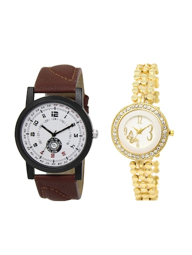 ACNOS Round dial analog couple watch(WAT-LR-11-203-COMBO) - 15501023 - Standard Image - 1