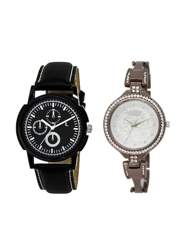 ACNOS Round dial analog couple watch(WAT-LR-13-236-COMBO) - 15501172 - Standard Image - 1