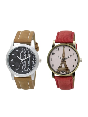 ACNOS Round dial analog watch combo(WAT-LR-14-230-COMBO) - 15501200 - Standard Image - 1