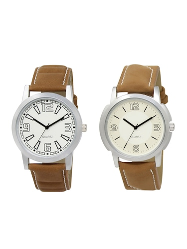 ACNOS Round dial analog watch combo(WAT-LR-15-16-COMBO) - 15501236 - Standard Image - 1